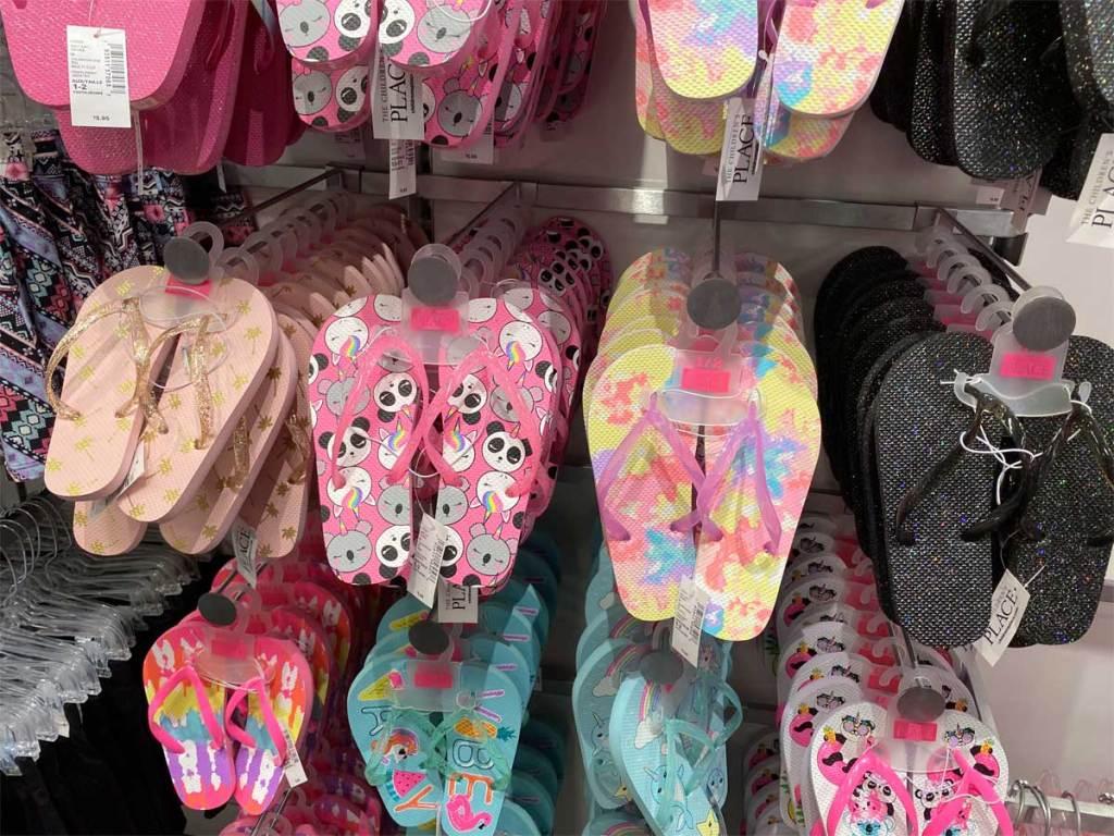 tcp flip flops on display