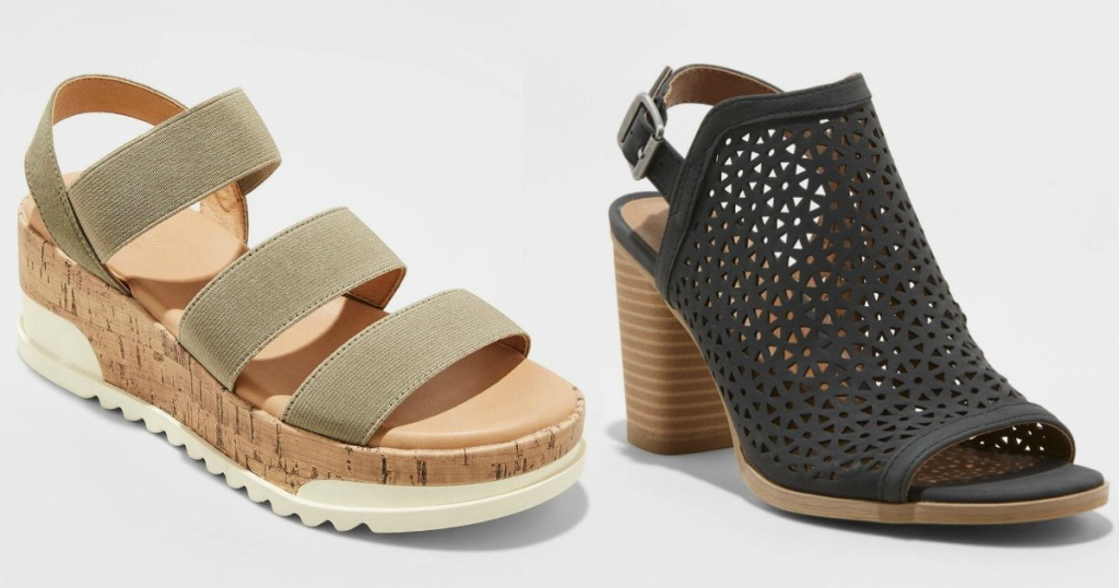 stock images of two pairs of womens shoes