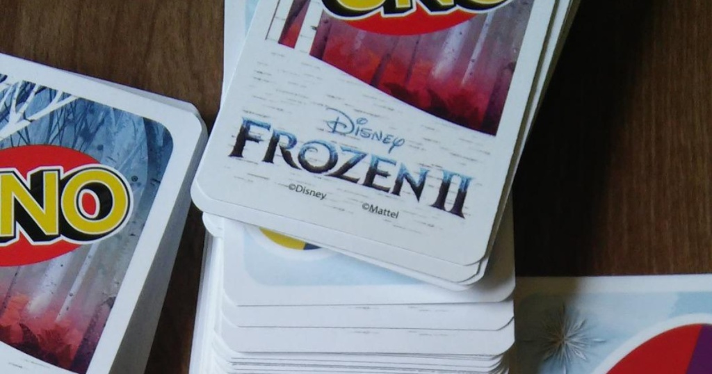 UNO Disney Frozen II cards