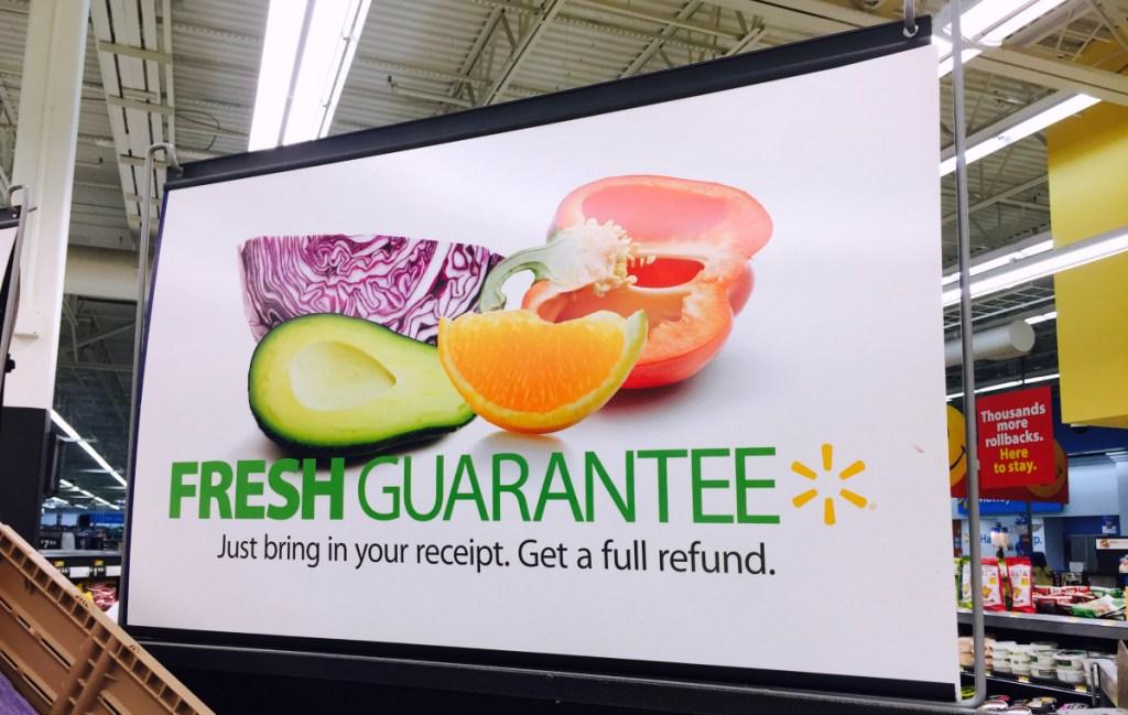 sign at Walmart