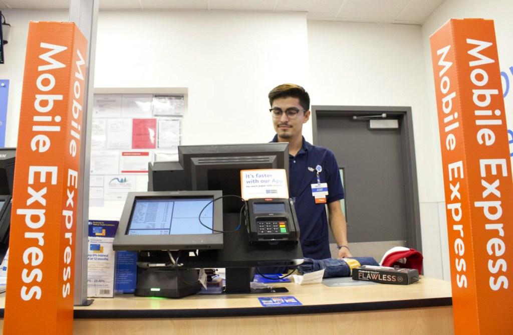 walmart manager at register