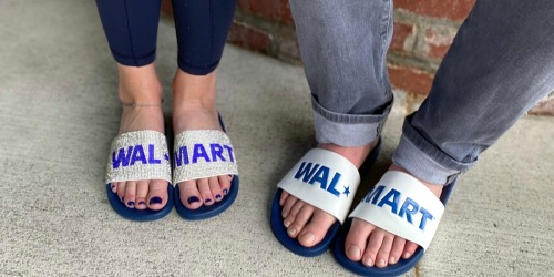 "Step Out In ""Style"" This Summer With Walmart Logo Slide Sandals (Yes, For Real.)"
