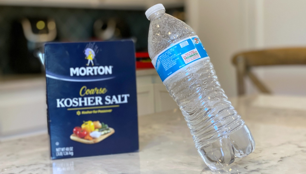 salt and water bottle