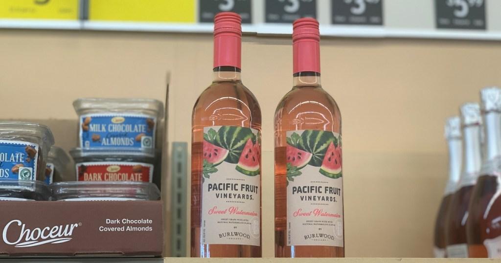 watermelon wine on shelf at ALDI