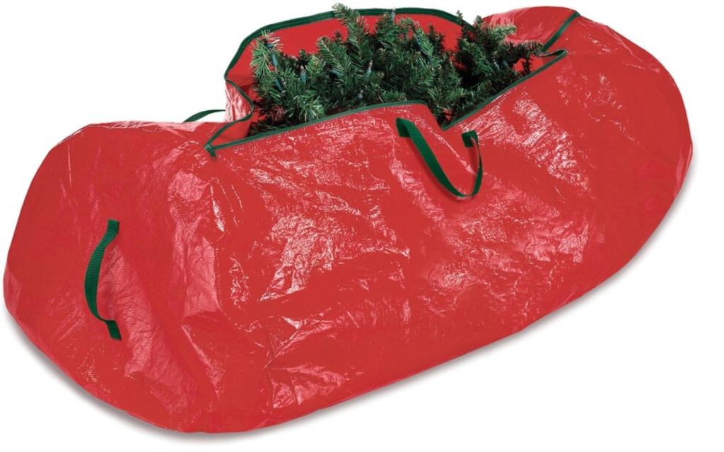 whitmor christmas tree bag red bag with tree in it