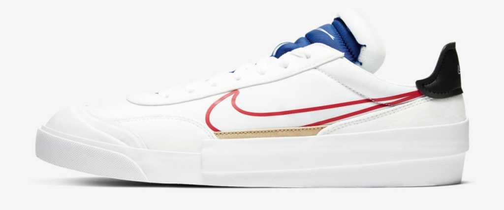 womens drop type shoe white