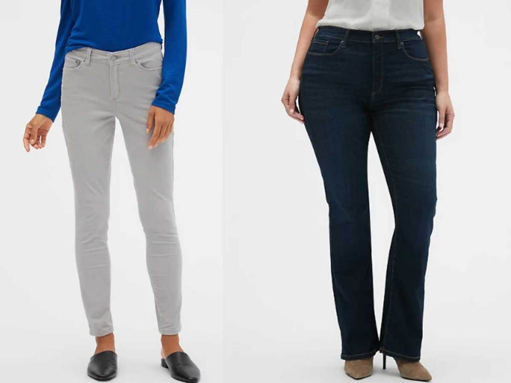 models wearing ladies jeans and pants