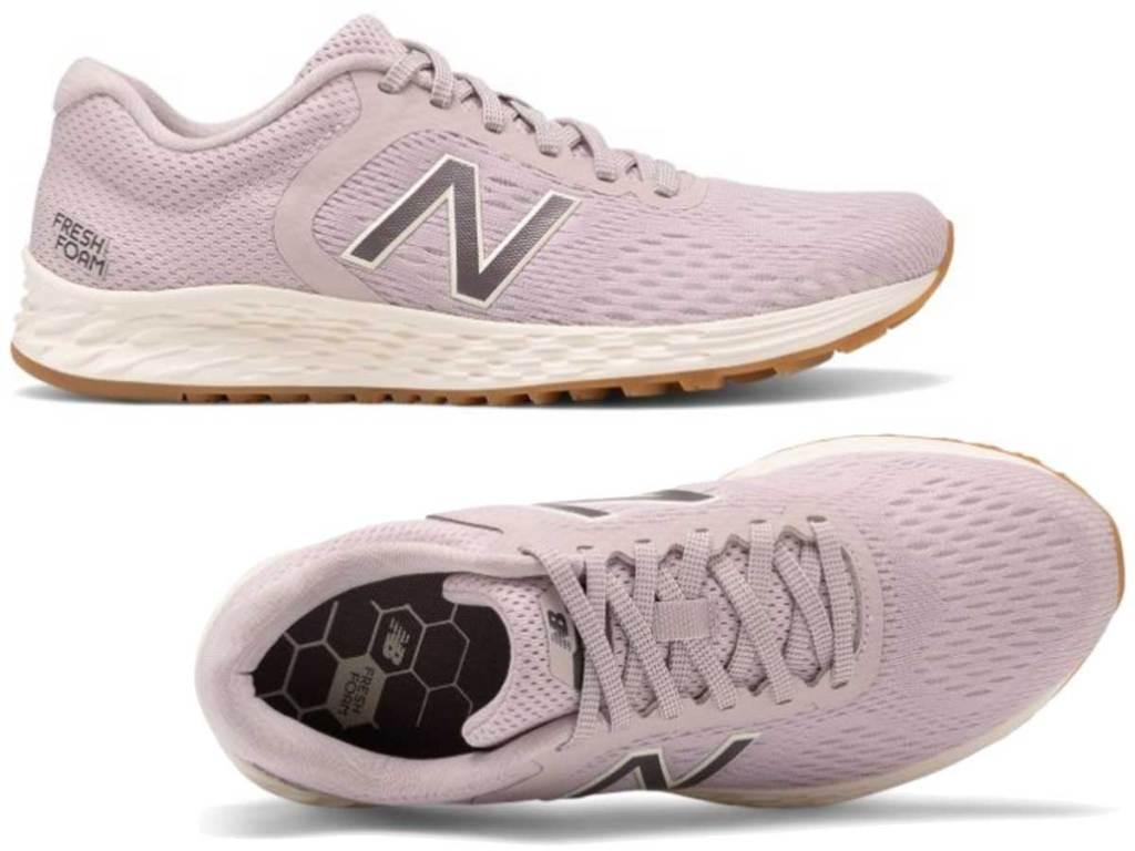 pair of women's running shoes in light gray