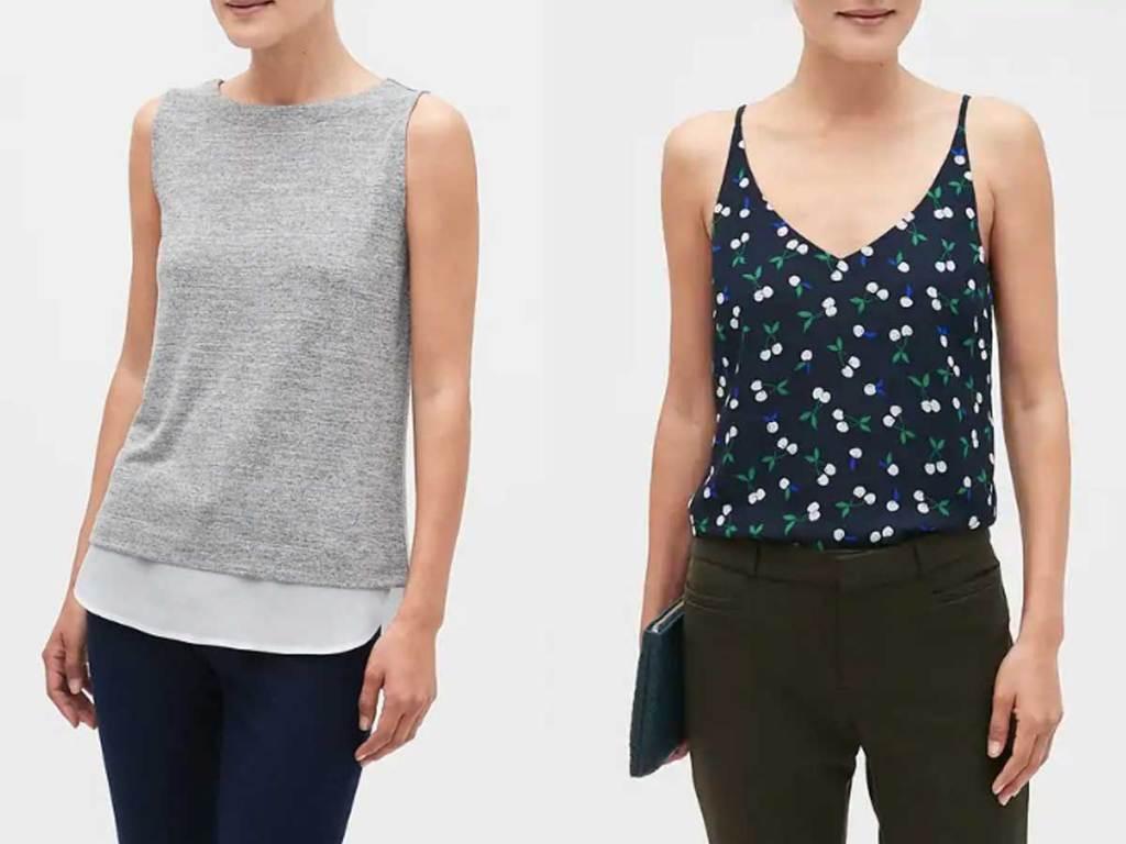 models wearing ladies summer shirts
