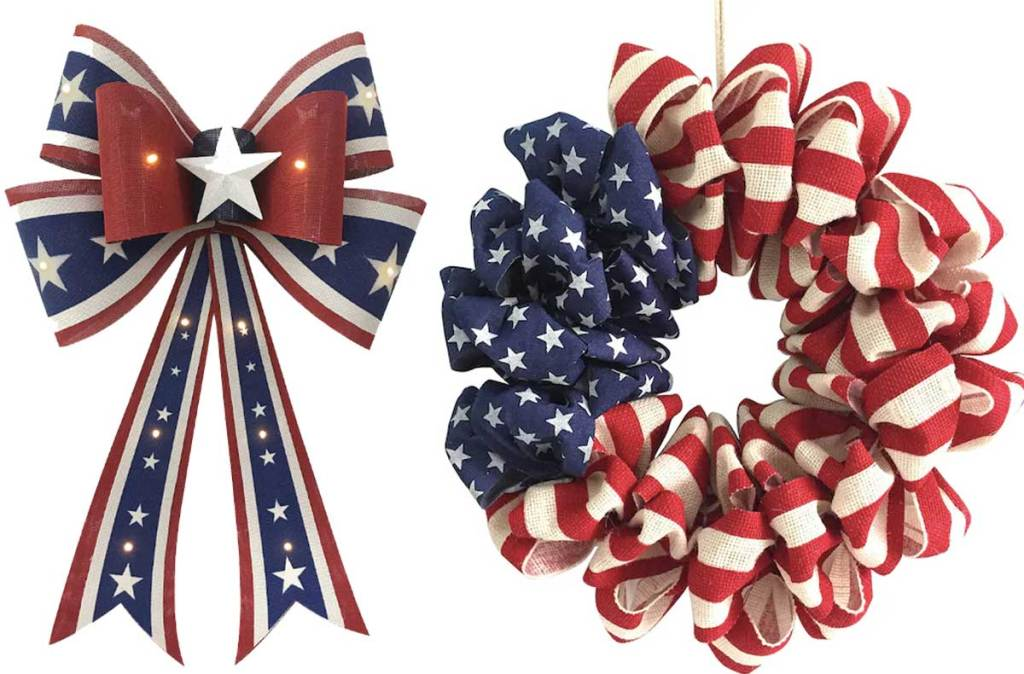 fourth of july bow and wreath