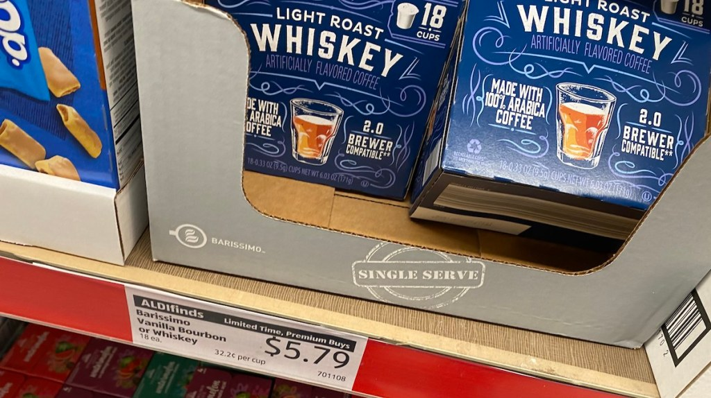 box with whiskey coffee at ALDI