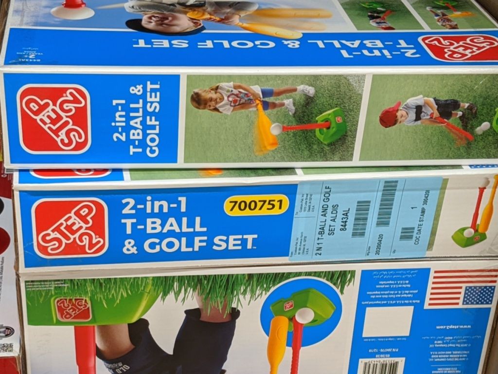 Step 2 t-ball and golf set box