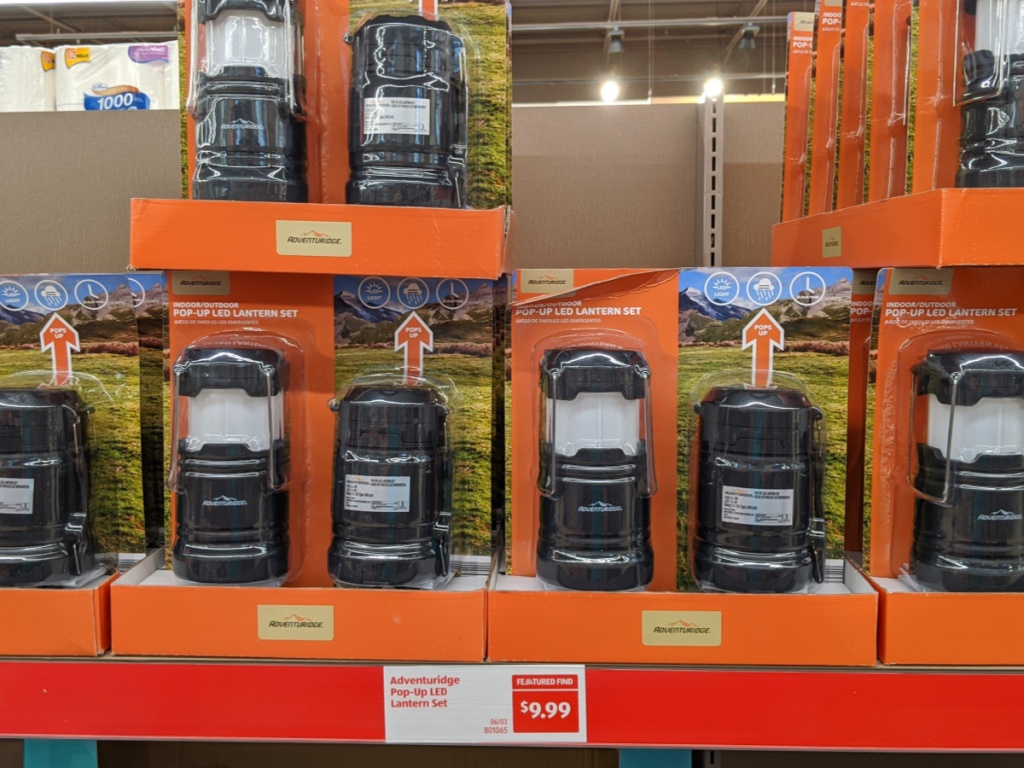 multiple lantern sets on a display in-store