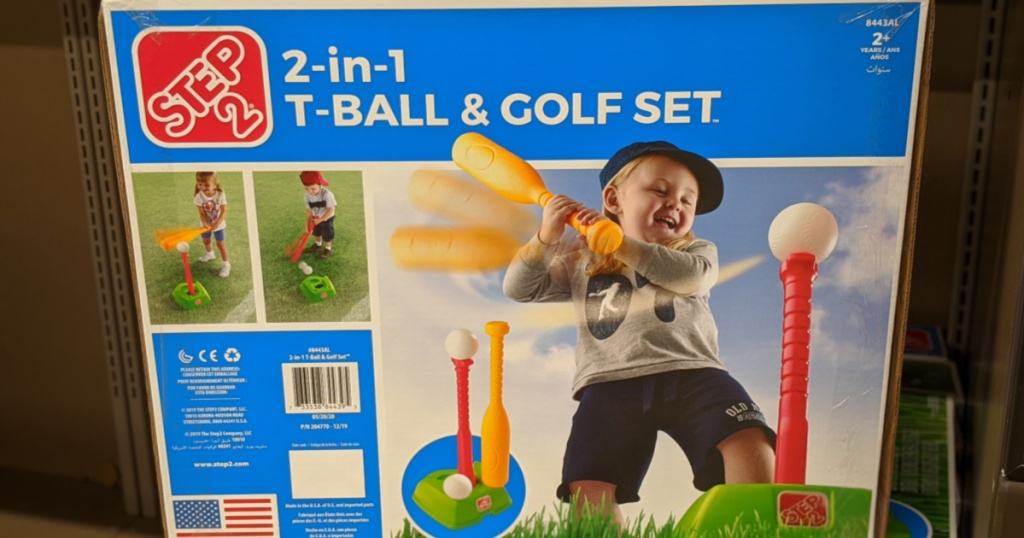 Step 2 2-in-1 Tee Ball and Golf Set for Kids Box