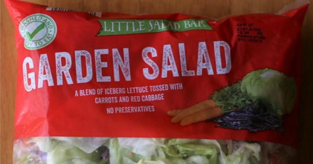 bagged garden salad