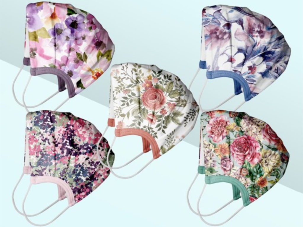 Abstract, Watercolor & Floral Assorted 5-Piece Non-Medical Face Mask Set
