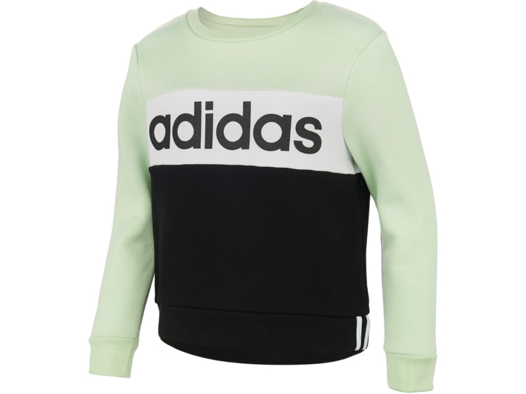 Adidas Big Girls Colorblocked Fleece Sweatshirts