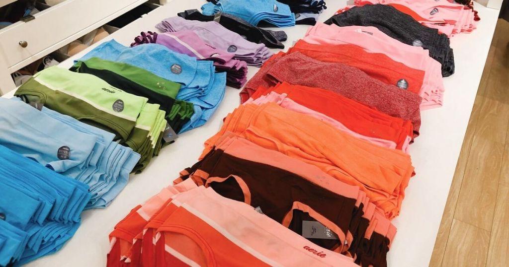 rows of women's panties