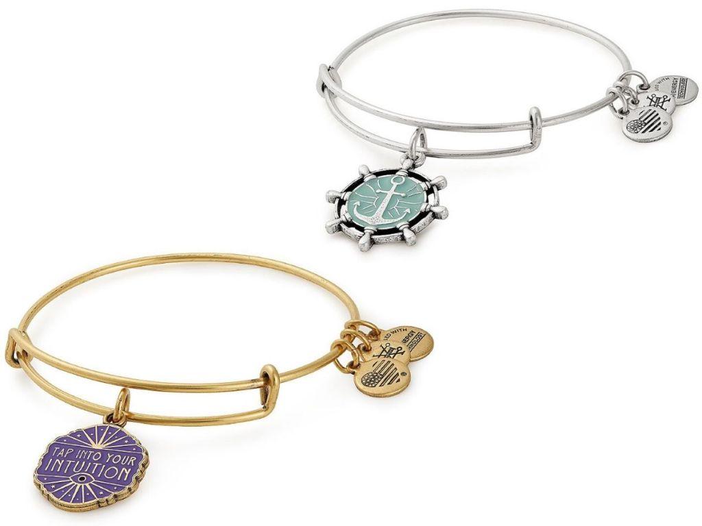 two bangle bracelets