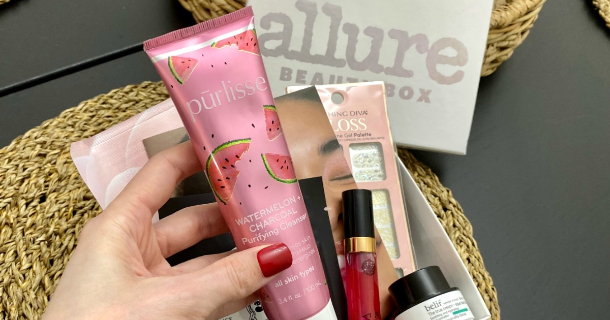Allure beauty products in box