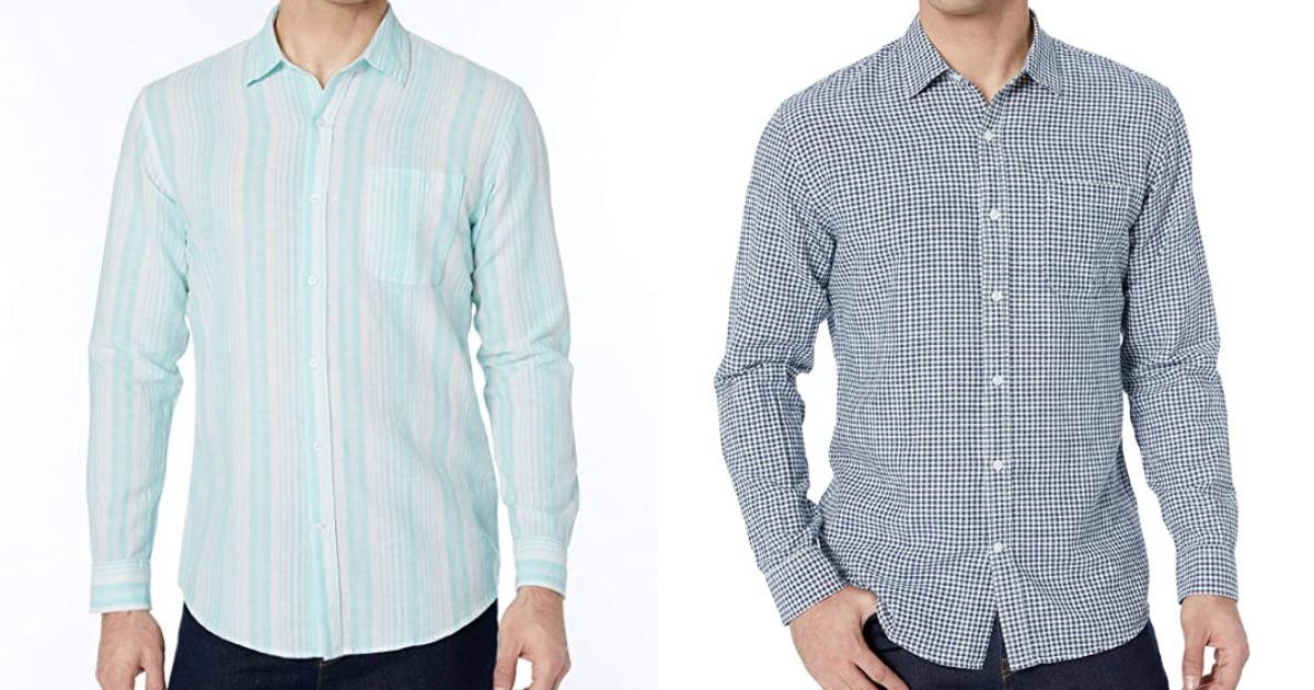 Amazon Essentials Button Down Shirts in blue