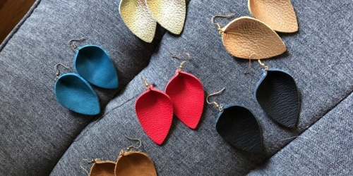 Teardrop Leather Earrings 9-Pack Only $11 on Amazon | Just $1.23 Per Pair