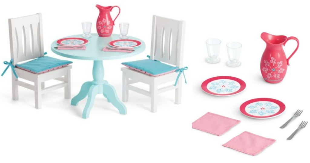 American Girl Table with table setting