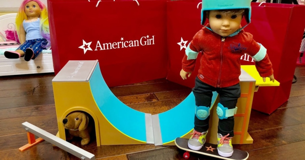 American Girl skate park with doll