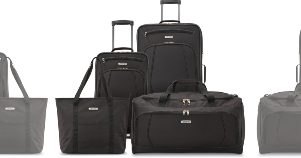 black luggage set from american tourister