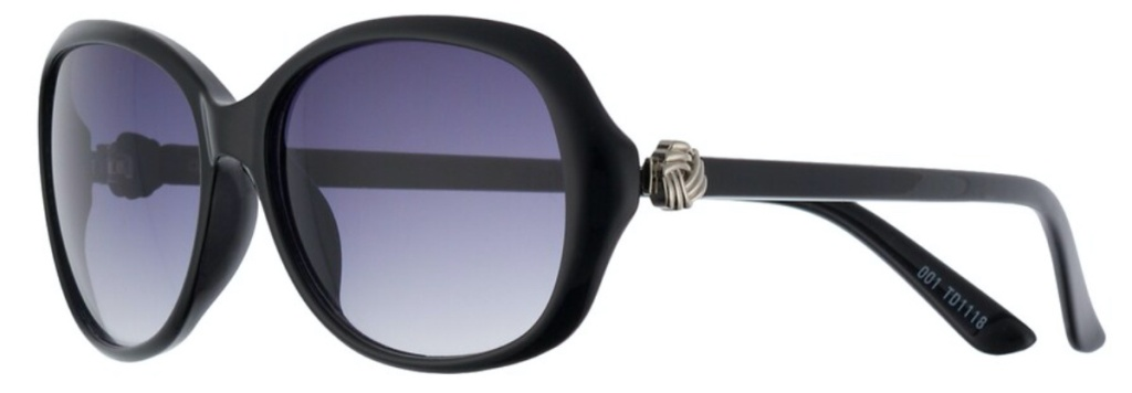 women's oval oversized black sunglasses