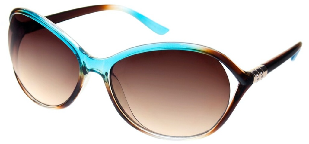women's turquoise and brown sunglasses