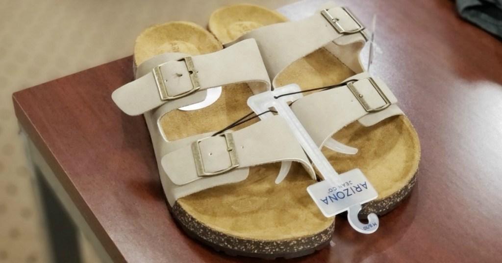 Pair of beige sandals