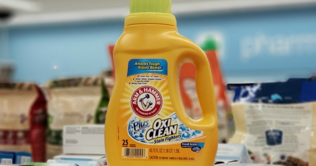 bottle of laundry detergent