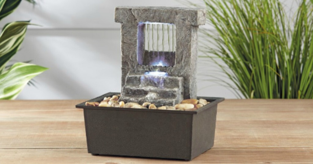 small water fountain on table