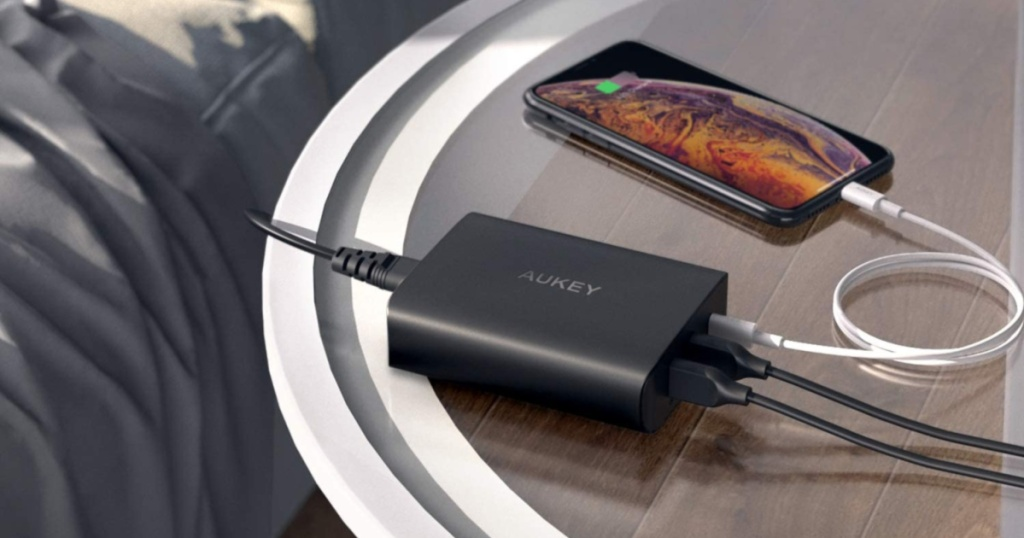 aukey charger charging iphone