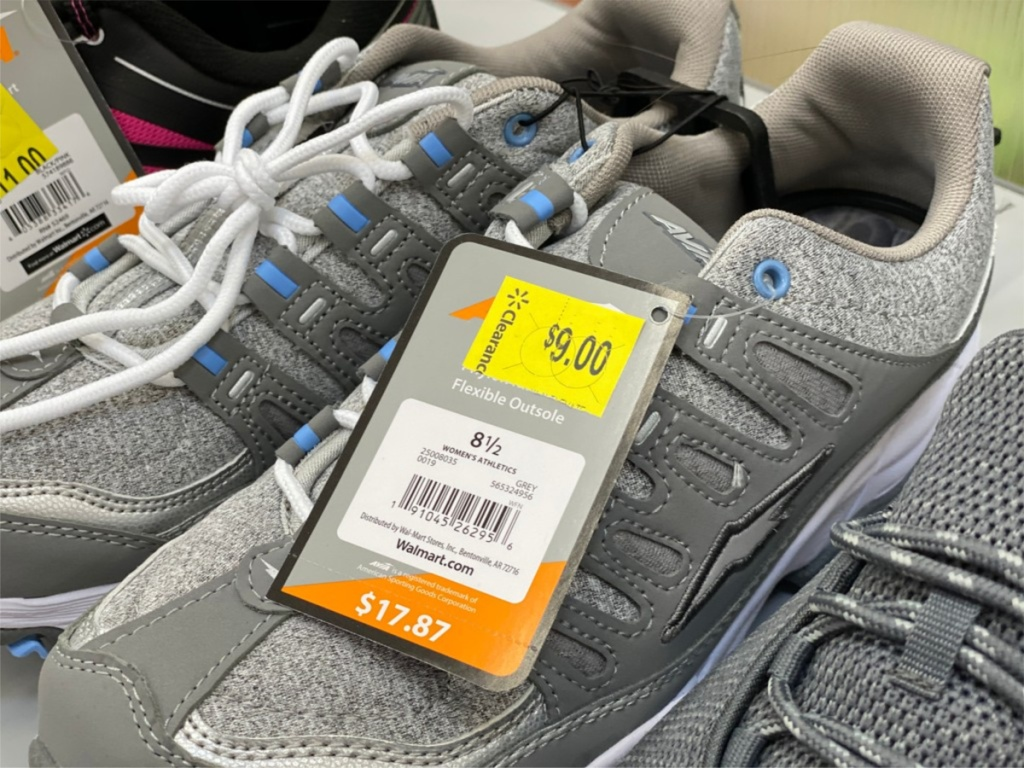 women's grey and blue sneakers in store