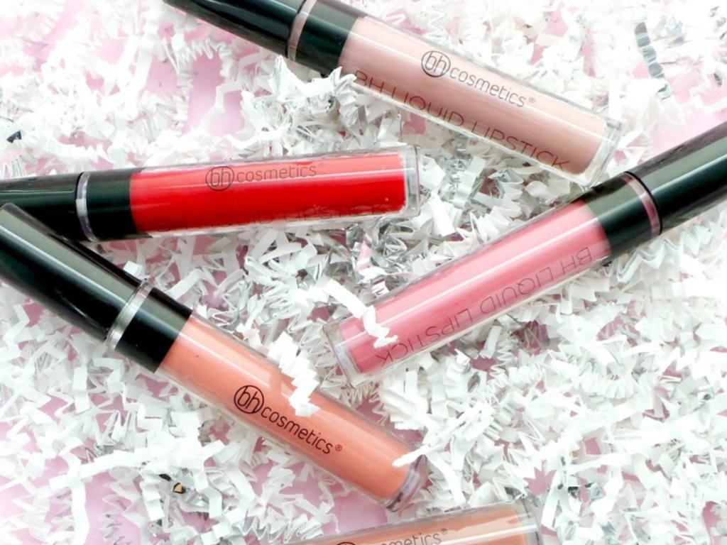 BH Cosmetics Liquid Lipsticks on confetti paper