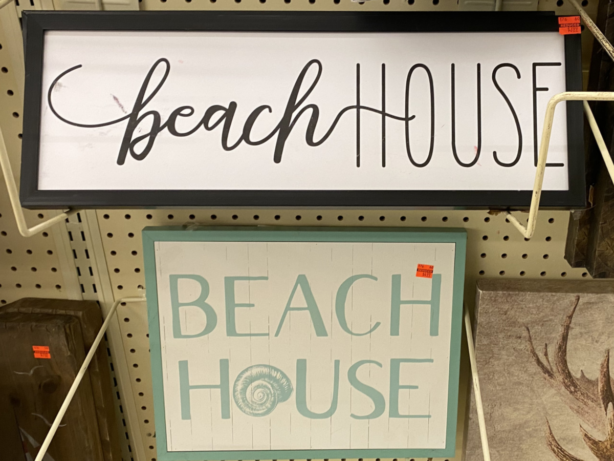 """two """"Beach House"""" wood pallet wall decors"""