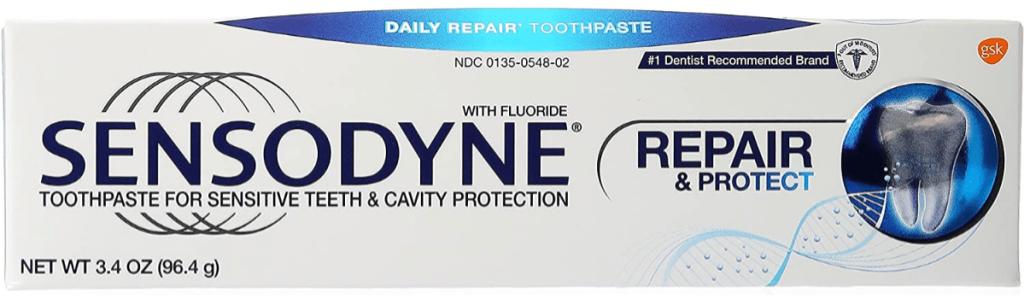 sensodyne pronamel toothpaste rapid repair toothpaste box