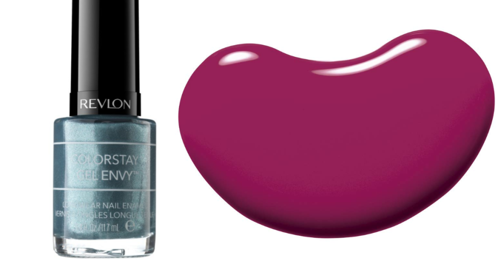 revlon colorstay gel nail polish blue and pink