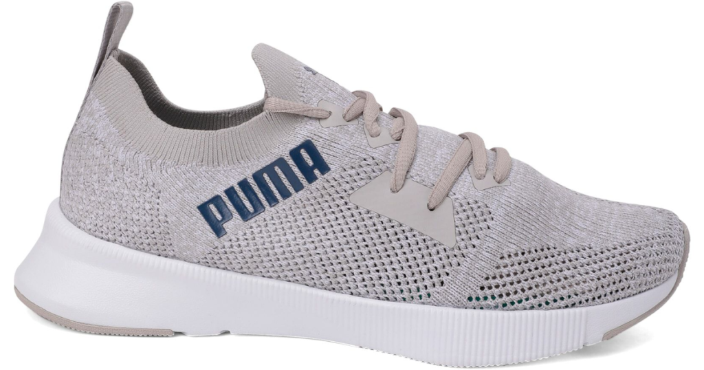 puma womens flyer knit shoe white shoe