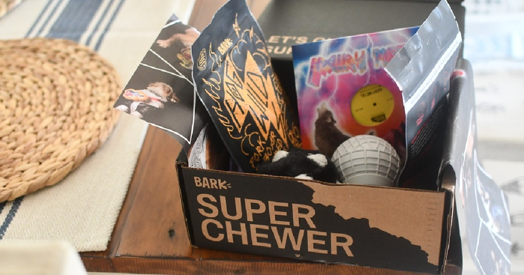 super chewer barkbox in box