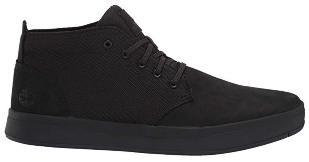 timbaland mens chukka shoe black canvas shoe
