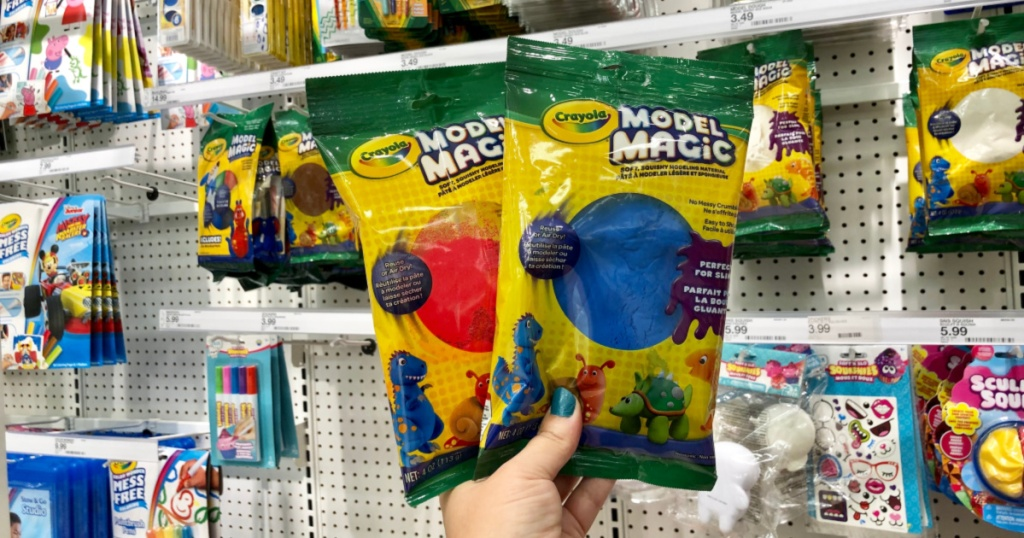 crayola model magic two packages red and blue