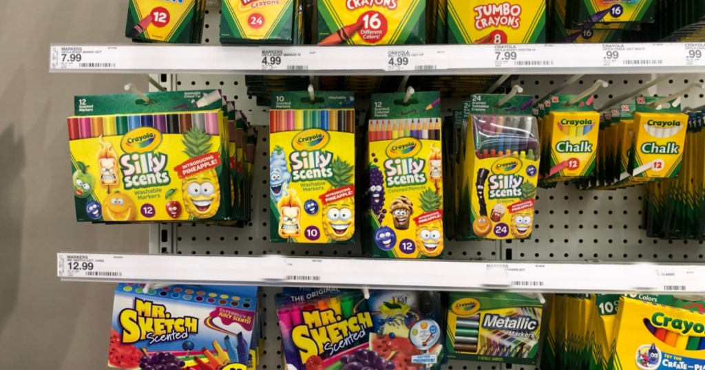crayola silly scents on aisle