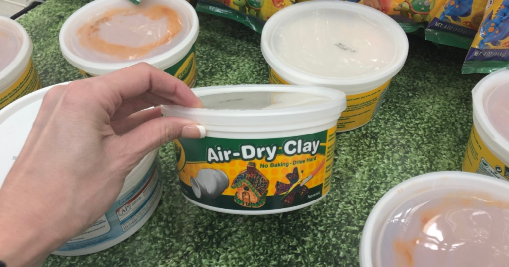 crayola air dry white clay in hand