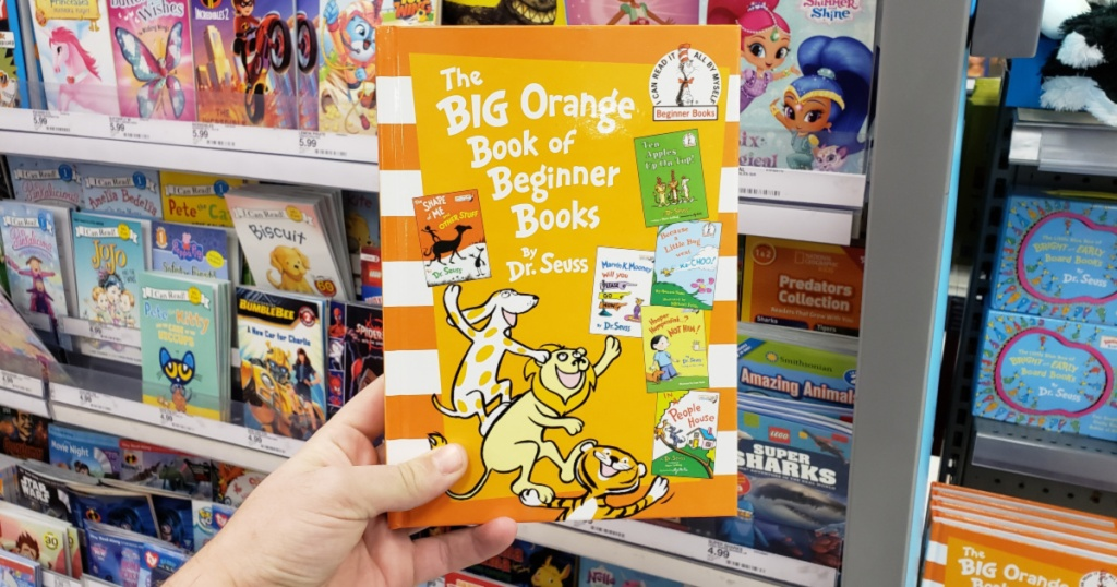 dr seuss the big orange book in hand