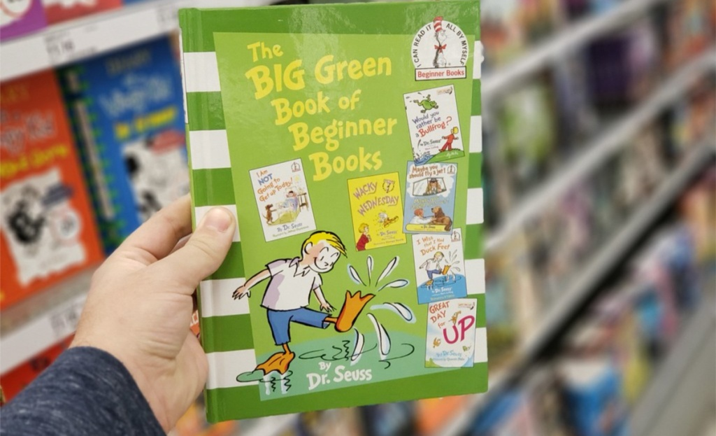 dr seuss the big green book in hand