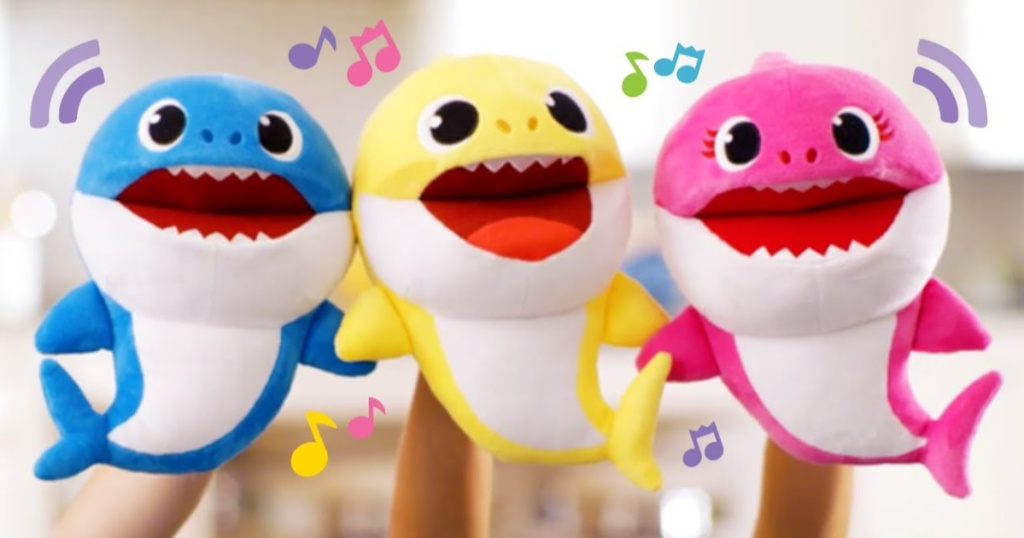baby shark puppets three colors