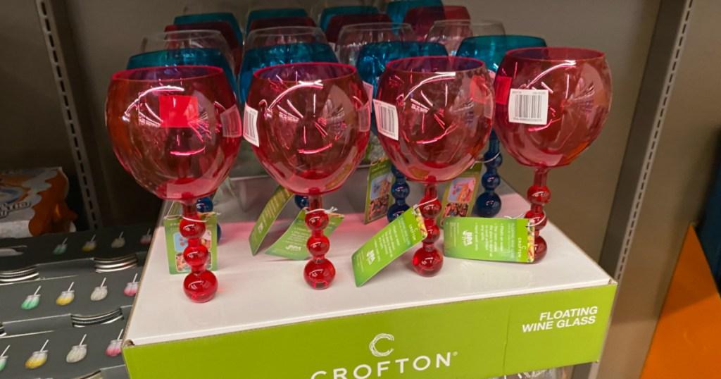 crofton floating wine glasses